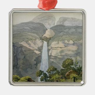 川のVinagreの滝、Puraciの火山の近くで、 メタルオーナメント