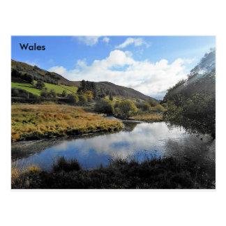 川のY字状回路、ウェールズ ポストカード