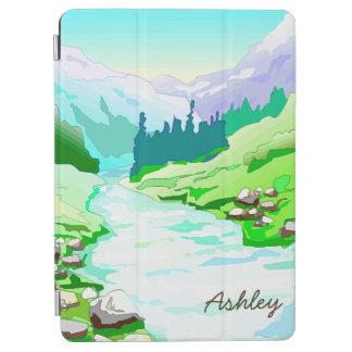 川はIt/Pristineの自然によってまたは名前入り走ります iPad Air カバー