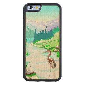 川または原始的な自然による鷲 CarvedメープルiPhone 6バンパーケース