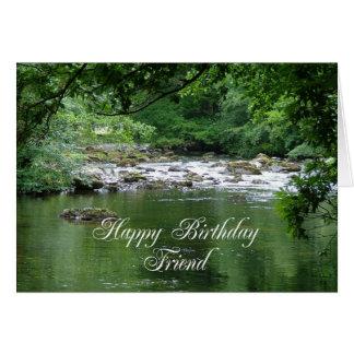 川を示す友人のバースデー・カード グリーティングカード
