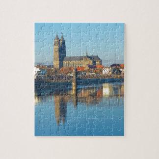 川エルベ川01が付いているマクデブルクのカテドラル ジグソーパズル
