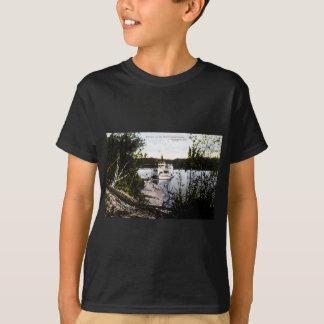 川サスカチュワン、エドモントン、アルタの汽船 Tシャツ