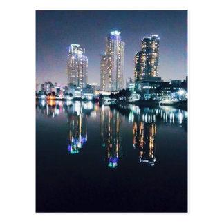 川上の夜のソウル ポストカード