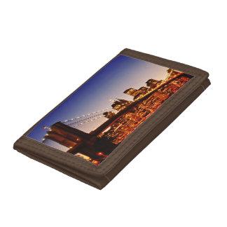 川上の橋とのニューヨークの都市景観