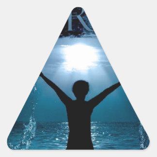 川団体 三角形シール