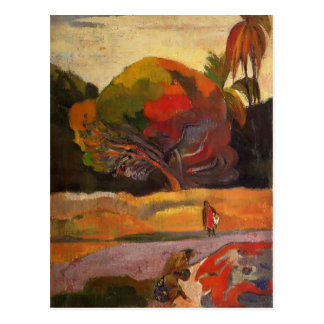 川岸のポールGauguin-の女性 ポストカード