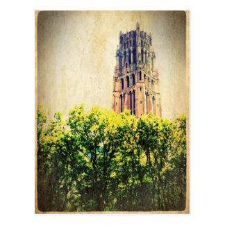 川岸の教会の塔 はがき