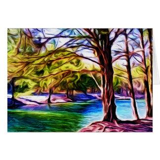 川岸の木 グリーティングカード