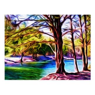 川岸の木 ポストカード