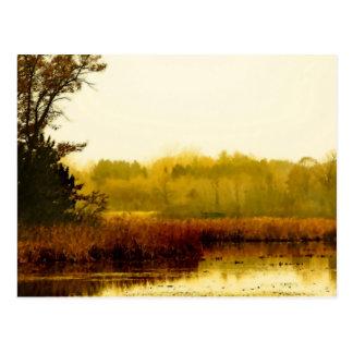 川岸の静かな朝 ポストカード