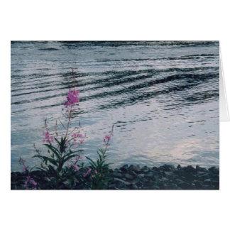 川岸アラスカの野生の花 グリーティングカード