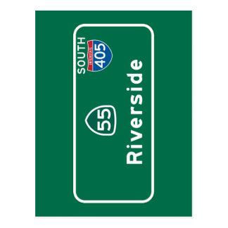 川岸、カリフォルニアの交通標識 ポストカード