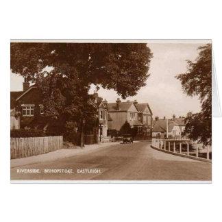 川岸- Bishopstoke - Eastleigh -ハンプシャー グリーティングカード