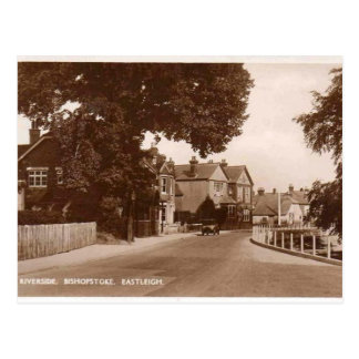川岸- Bishopstoke - Eastleigh -ハンプシャー ポストカード