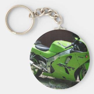 川崎の緑の忍者ZX-6R Motocycleの通りのバイク キーホルダー