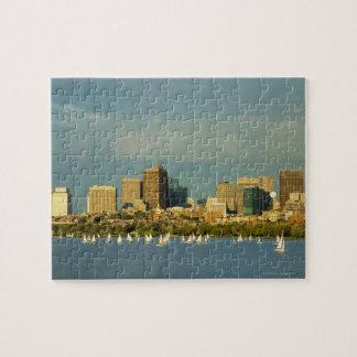 川、チャールズ川、ボストンのヨット、 ジグソーパズル