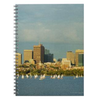 川、チャールズ川、ボストンのヨット、 ノートブック
