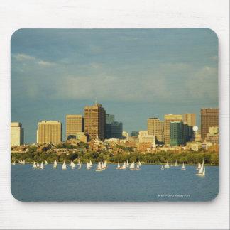 川、チャールズ川、ボストンのヨット、 マウスパッド