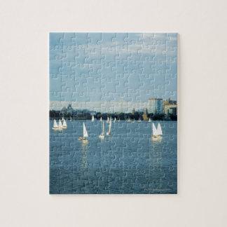 川、チャールズ川、ボストン、2のヨット ジグソーパズル