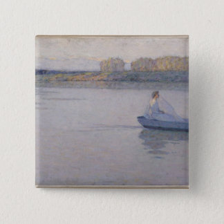 川、朝1896年 5.1CM 正方形バッジ