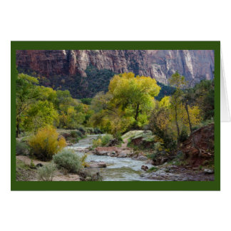 川、森林及び自然公園のブランクの挨拶状 グリーティングカード