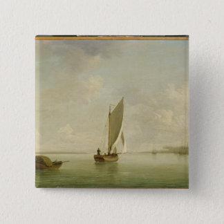川、cの軽い微風の帆の下の平手で打 缶バッジ