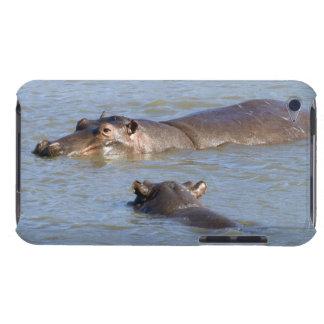 川、Krugerの国立公園の2頭のカバ、 Case-Mate iPod Touch ケース