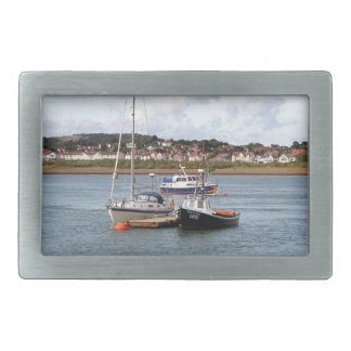 川Conwy、ウェールズのボート 長方形ベルトバックル
