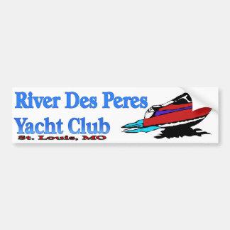 川Desペレスのヨットクラブのバンパーステッカー バンパーステッカー