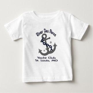 川Desペレスのヨットクラブの乳児のTシャツ ベビーTシャツ