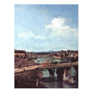川Po、トゥーリン上の古い橋の眺め ポストカード