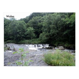 川Rheidol、Ceredigion、ウェールズ ポストカード