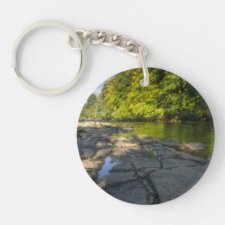 川Swale、Easby、リッチモンド、ノースヨークシャー州 キーホルダー
