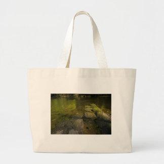 川Swale、Easby、リッチモンド、ノースヨークシャー州 ラージトートバッグ