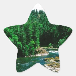川Umpquaダグラス郡オレゴン 星シール