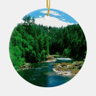 川Umpquaダグラス郡オレゴン 陶器製丸型オーナメント