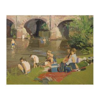 川Withypoolによるピクニック ウッドウォールアート