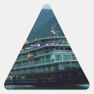 川Yangtzの中国のなツーリストボート 三角形シール
