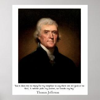 州および宗教のトーマス・ジェファーソン ポスター