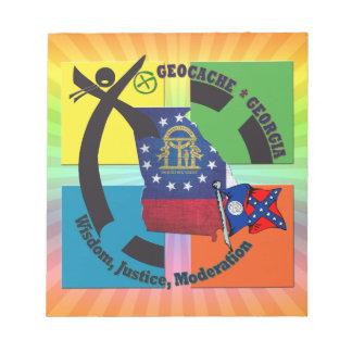 州のジョージアのモットー ノートパッド