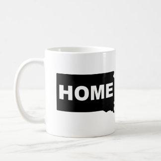 州のマグのタンブラーからのサウスダコタの家の遠くに コーヒーマグカップ