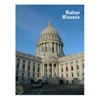 州の国会議事堂-マディソン ポストカード