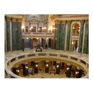 州の国会議事堂-マディソン-郵便はがき ポストカード
