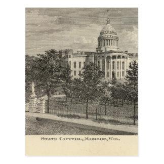 州の国会議事堂、マディソン、Wis ポストカード
