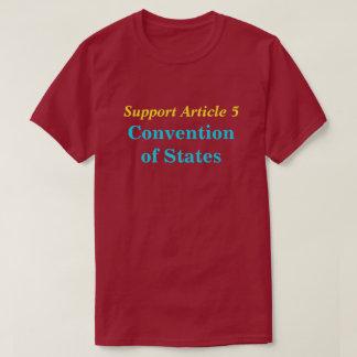 州の大会、サポート記事5のTシャツ Tシャツ