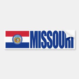 州の旗が付いているミズーリ バンパーステッカー