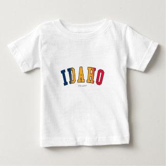 州の旗色のアイダホ ベビーTシャツ
