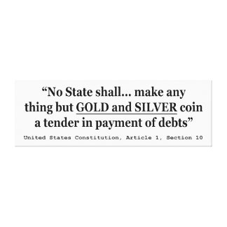 州は事を金ゴールドおよび銀を作りません キャンバスプリント
