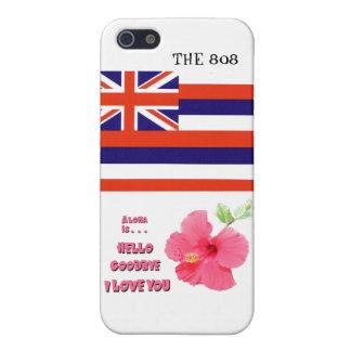 州アイコンとのハワイ808のiPhone 5cケース iPhone 5 カバー